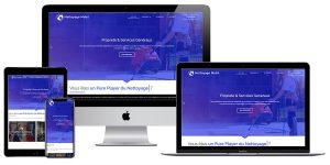 Mockup multidevices du site vitrine nettoyage mobil